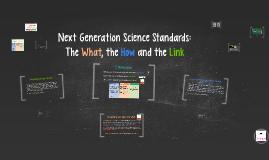 Copy of Next Generation Science Standards: