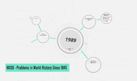 HI130 - Problems in World History Since 1945