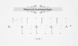 Historia de la psicopatología.