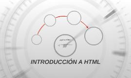 INTRODUCCIÓN A HTML