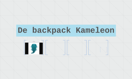 De backpack Kameleon