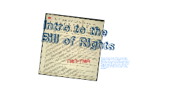 Intro to Bill of Rights