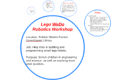 Lego WeDo Robotics Workshop