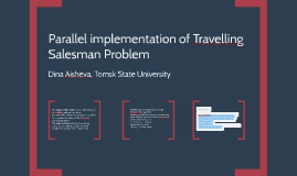 Parallel implementation of Travelling Salesman Problem