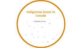 Indigenous issues in Canada