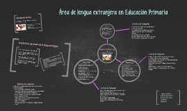 AREA de lengua extranjera en educación Primaria