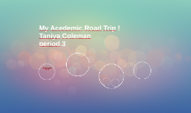 My Acedemic Road Trip !