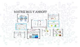 Copy of MATRIZ BCG Y ANSOFF