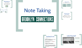 Bed Stuy - Observations &Note Card Method
