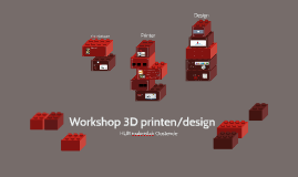 Workshop 3D printen/design