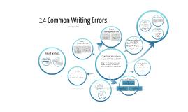 14 Common Writing Errors