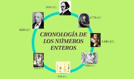 CRONOLOGÍA DE LOS NÚMEROS ENTEROS