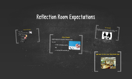Reflection Room Expectations