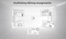 Scaffolding Writing Assignments