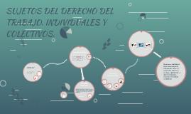 Copy of SUJETOS DEL DERECHO DEL TRABAJO. INDIVIDUALES Y COLECTIVOS.