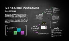 My Training programme