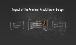 Copy of Impact of the American Revolution on Europe