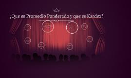 Promedio Ponderado y Kardex