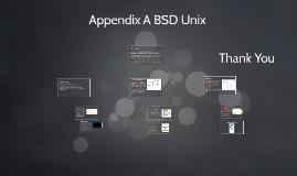 Appendix A BSD Unix