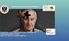 """""""EJERCICIO FISICO EN LAS DEMENCIA"""""""