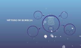 MÉTODO DE BURBUJA