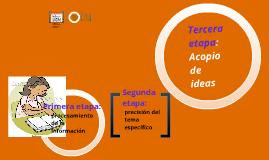 ETAPAS DE PRODUCCIÓN DE TEXTOS ESCRITOS