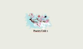 Poetry Unit 5