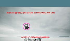 PROYECTO CIRCULO DE ESTUDIO