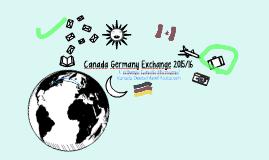 Canada Germany Exchange 2015/16