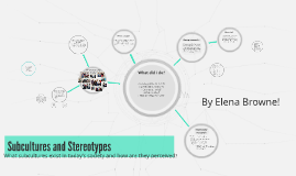 Subcultures and Stereotypes