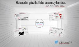 Acusador Privado: Entre el acceso y las barreras