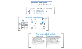 Multiplication:  The box method and the traditional algorithm