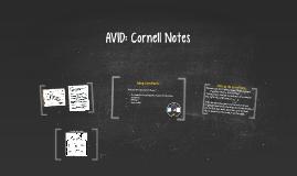 AVID: Cornell Notes