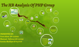 The HR Analysis Of PHP Group