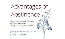 Abstinence advantages