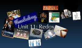 Unit 12: Reduction & Oxidation (Redox)