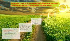 Genel Öz-Yeterlilik İnancı ve Kaygı Düzeyleri İncelenmesi