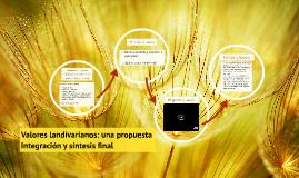 Valores landivarianos: una propuesta