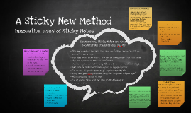 Copy of Innovative uses of sticky notes -- enhancing the learning of