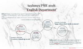 Acciones PME 2018