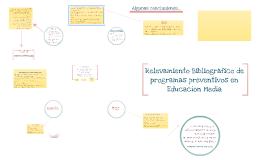 Copy of Relevamiento Bibliográfico de programas preventivos en Educa