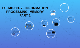 LS- MH-CH.7 - INFORMATION PROCESSING & MEMORY