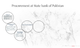 Procurement at State bank