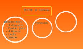 Postre de guayaba