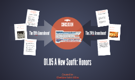 01.05 A New South: Honors