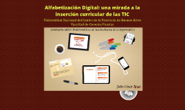 Alfabetización Digital: una mirada a la inserción curricular