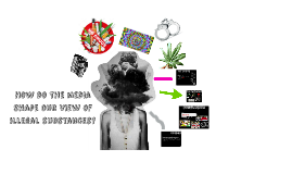 How do the media shapes our view of illegal substances?