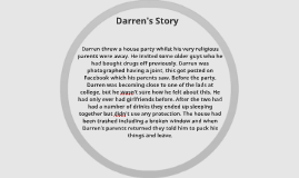 Darren threw a house party whilst his very religious parents