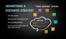 Creating a Search Strategy