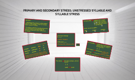 PRIMARY AND SECONDARY STRESS (AP2)